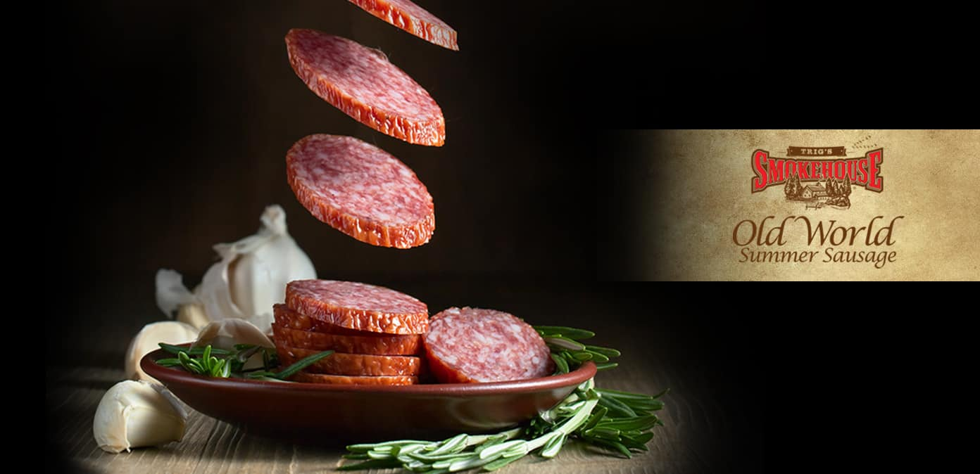 Trig's Smokehouse Old World Summer Sausage - New Product available now online.