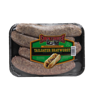 Image of the 16 oz Trig's Smokehouse Tailgater Bratwurst package